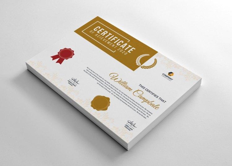 Academic Certificate Design