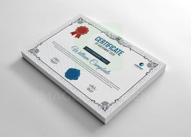 Classic Achievement Certificate Template