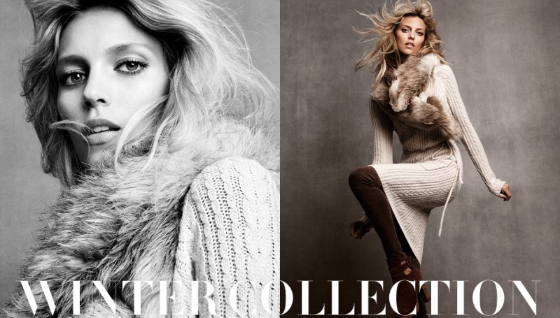 anja hm1 Anja Rubik for H&Ms Winter 2011 Collection