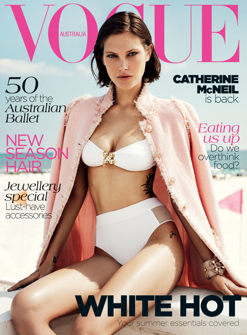 catherine mcneil10 Catherine McNeil Stays Cool for Vogue Australias November 2012 Cover Shoot by Benny Horne