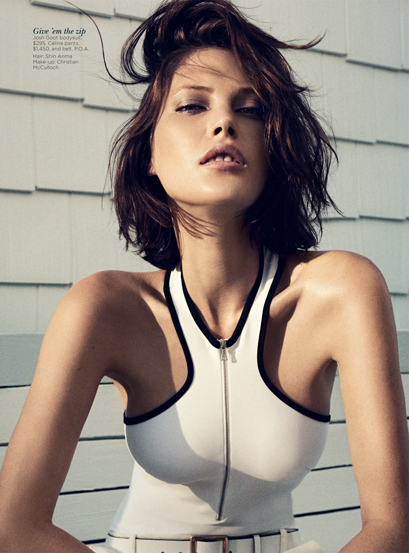 catherine mcneil9 Catherine McNeil Stays Cool for Vogue Australias November 2012 Cover Shoot by Benny Horne