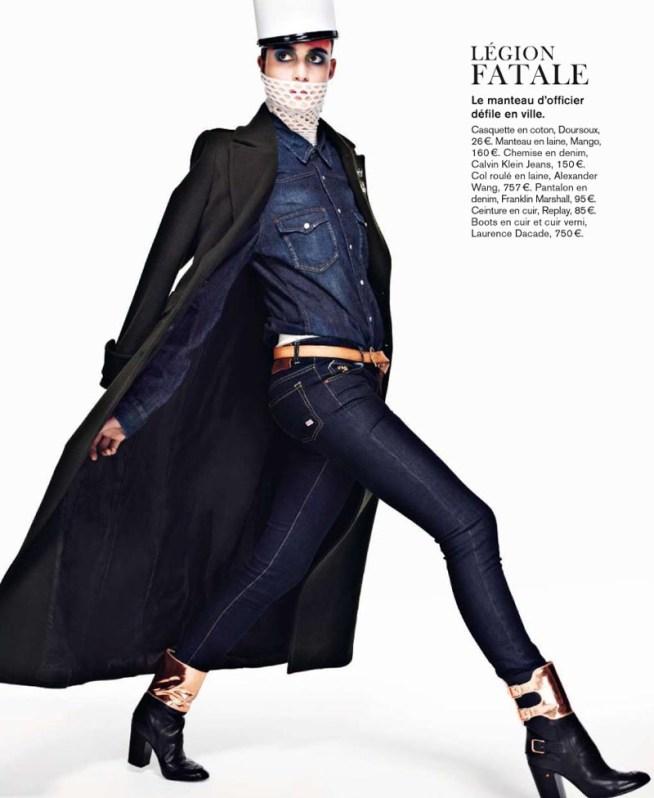pauline6 Pauline Van der Cruysse Models Denim Fashion for Glamour France by Naomi Yang