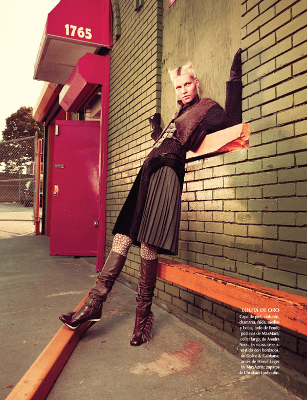 aline weber4 Aline Weber Dons Fashion with Edge for Vogue Mexico November 2012 by Andreas Sjodin