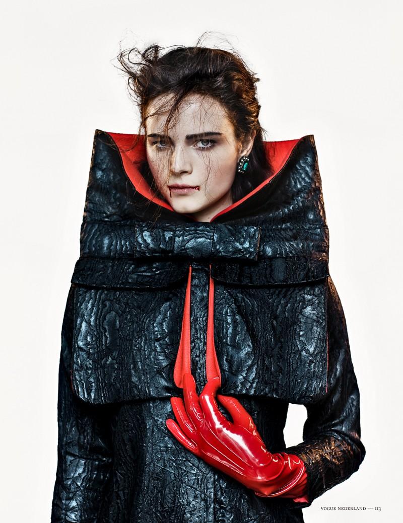 anna de rijk10 Anna de Rijk Dresses for Halloween in Vogue Netherlands November Issue, Lensed by Marc de Groot
