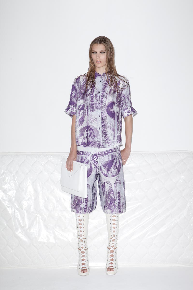 acne7 Acnes Resort 2013 Collection Offers Currency as Prints