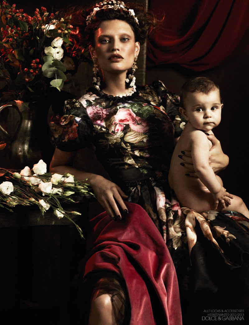 dolce1 Bianca Balti is a Baroque Goddess in Dolce & Gabbana for Interview Germany