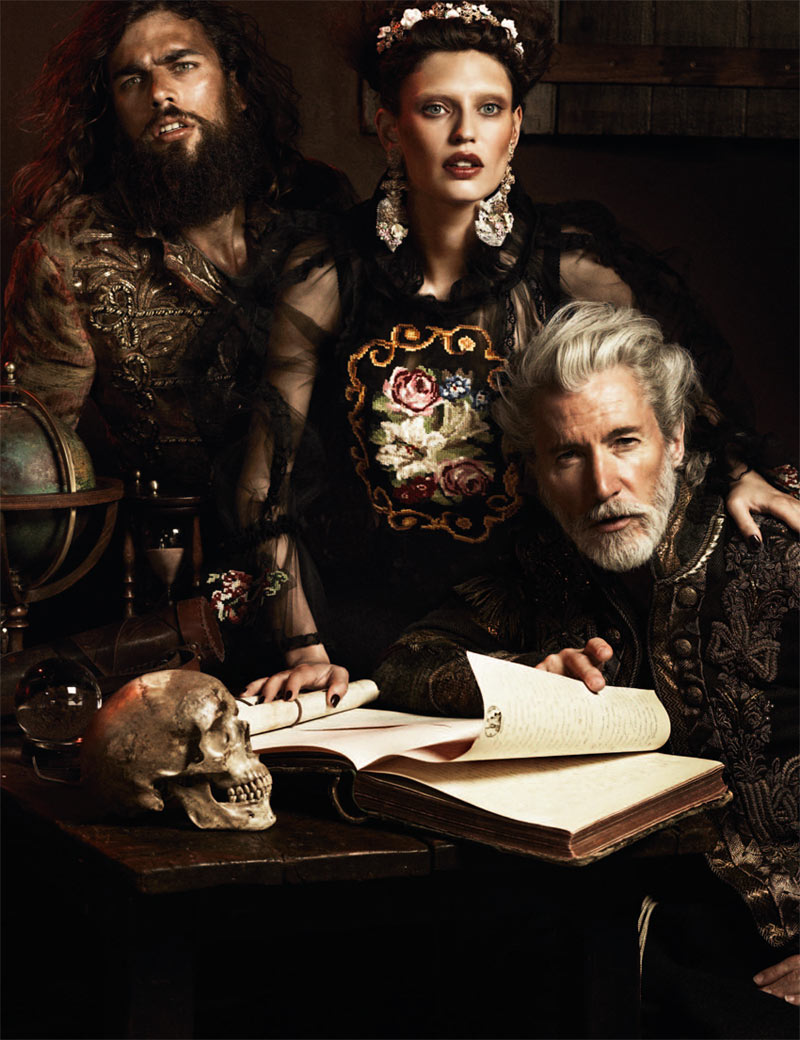 dolce5 Bianca Balti is a Baroque Goddess in Dolce & Gabbana for Interview Germany