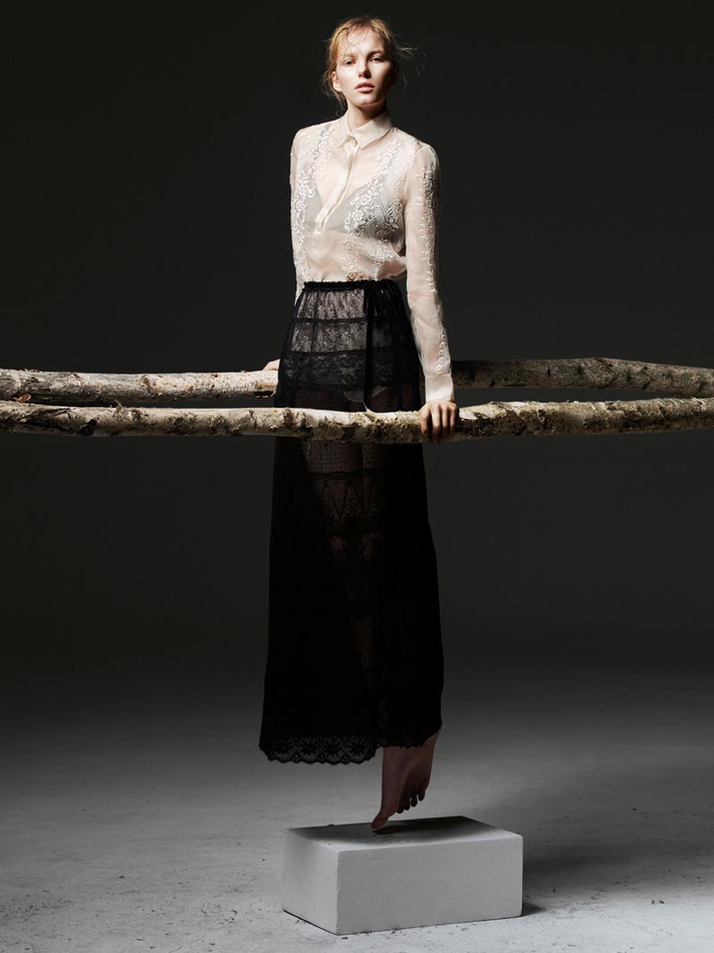 the room9 Liu Wen, Anais Pouliot, Querelle Jansen & Others Keep it Natural for The Room S/S 2012