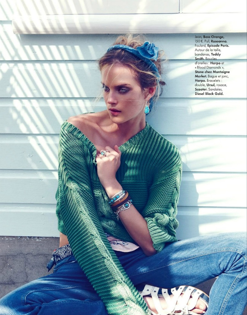ShannanElle04 Shannan Click Dons Flirty Summer Looks for Elle France June 2012 by Nagi Sakai