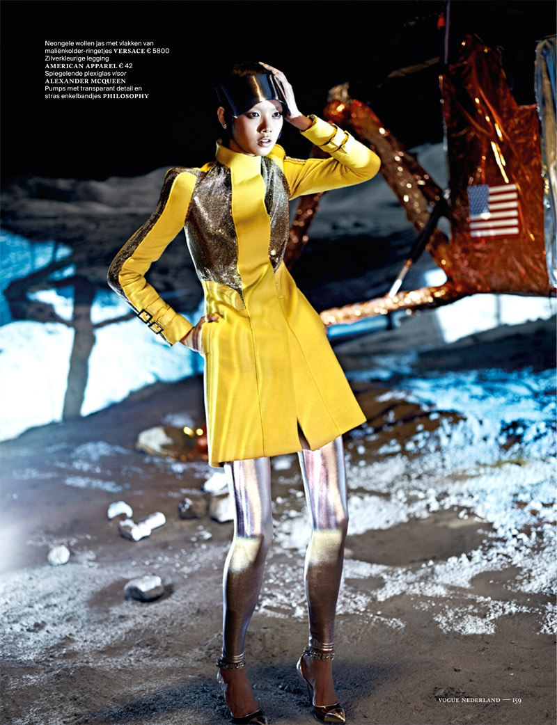 Shenzhou05 Grace Guozhi is a Vision of the Future in Vogue Netherlands September 2012 by Marc de Groot