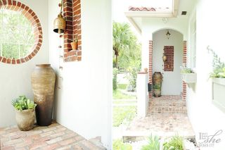 An entrance with a rustic charm