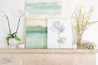 Creating a fresh look for Spring (mantel)
