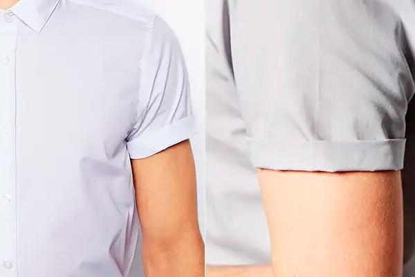 manga camisa corta