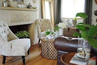 Coffee table styling with odd numbers