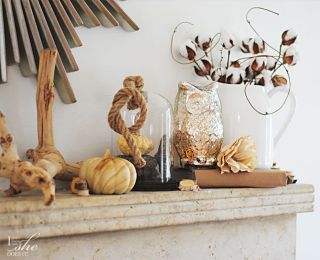 Transitional fall accents for the home. Cotton and natural colors.