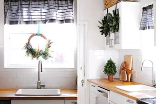 Christmas Room Tour Green Kitchen
