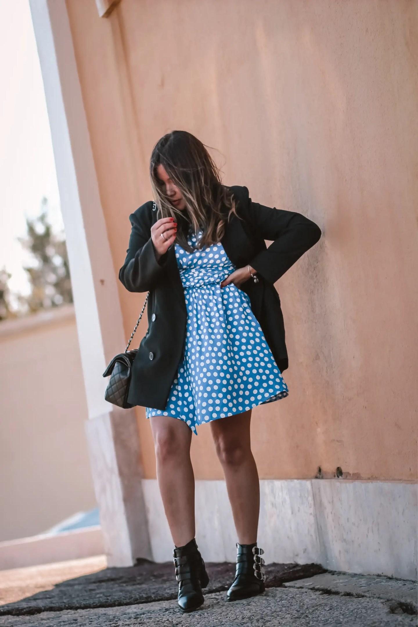 the green ananas, blog mode, zara, polka dot dress, blazer femme, blazer loose, robe pois, tularosa, pinterest, instagram, blog, and other stories, from cannes with love