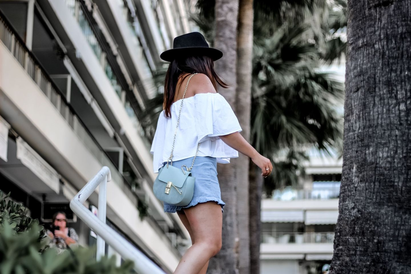forever 21, pull and bear, espadrille femme, espadrilles clous, top volants, top bardot, pimkie, inspi drew chloé, drew chloé, blog mode, the green ananas, blogueuse mode, blogueuse française, cannes