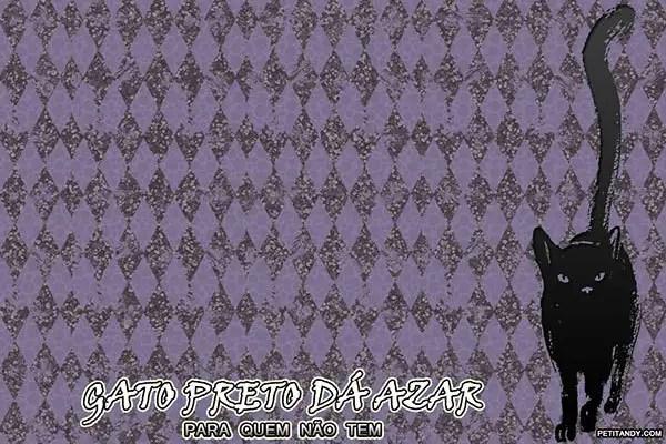 No mês de Agosto tem wallpaper gratuito para download sobre gatos pretos, azar, e fofura! http://petitandy.com