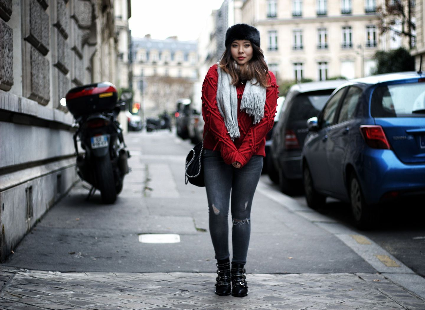 zaful, pull femme, boots givenchy, jessica buurman, zara, stella mccartney, red, knit, the green ananas, blog mode