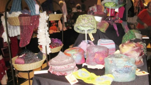 Felted and hand knit hats