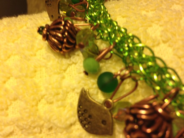 lovely little brass birds, and vintage copper cage beads