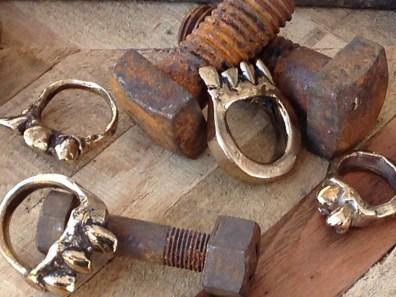 bronze cast pieces.