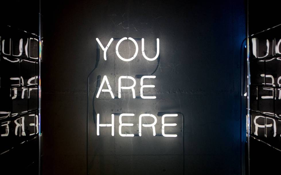 you are here_neon