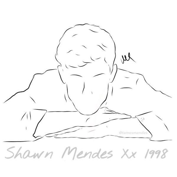drawings shawn mendes sketch coloring page