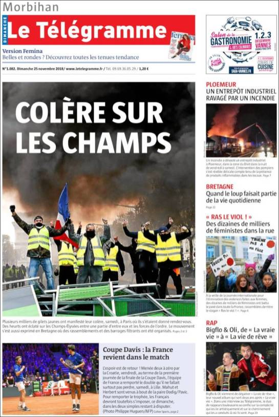 Le Telegramme, 25/11/2018.