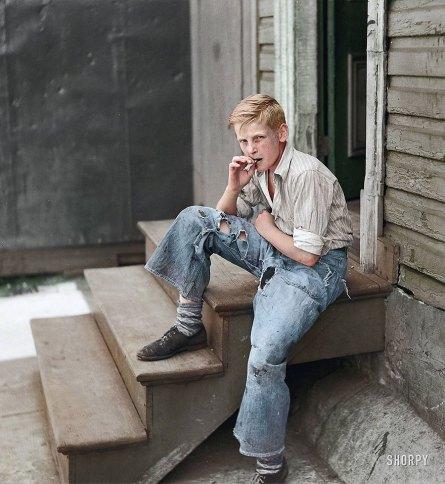 photojacker, col. de Baltimore Slums (John Vachon), 1938