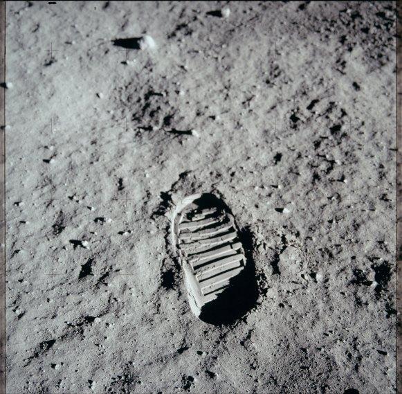 Photo N. Armstrong, Nasa, 20/07/1969.