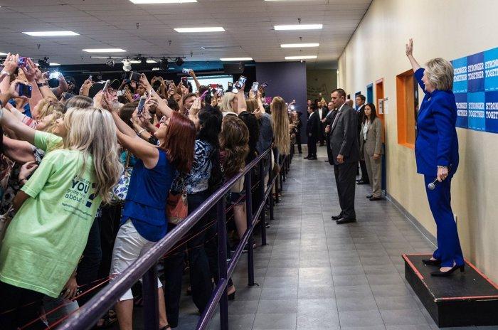 Barbara KInney, campagne de Hillary Clinton, 21 septembre 2016, Orlando.