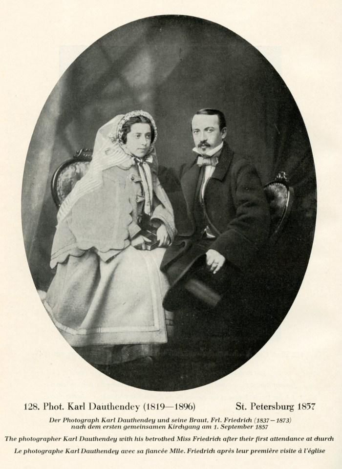 Karl Dauthendey avec sa fiancée, 1er septembre 1857, Saint- Petersbourg.