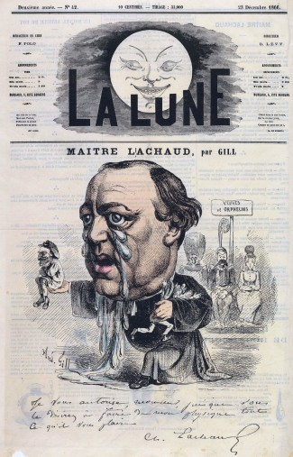 Gill, Maître Lachaud, La Lune, 1866.