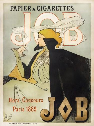 Jane Atché, affiche JOB, 1896.