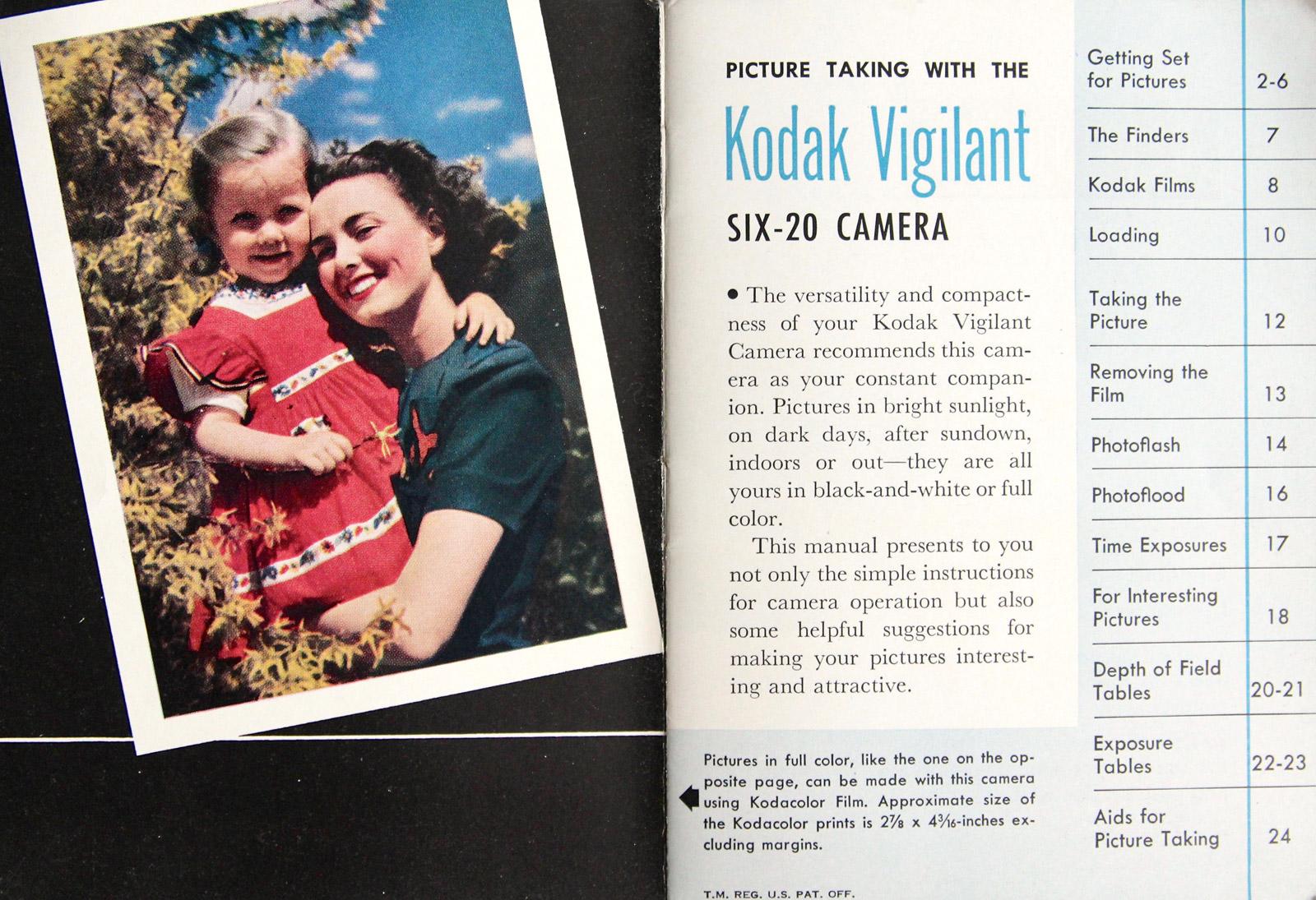 Manuel Kodak Vigilant 6-20, 1948.