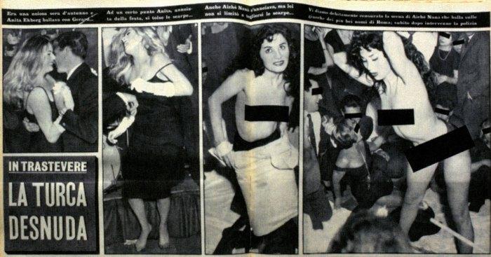 """L'Espresso, """"La Turca desnuda"""", 16 novembre 1958."""