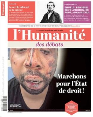 L'Humanité, 28/11/2020.