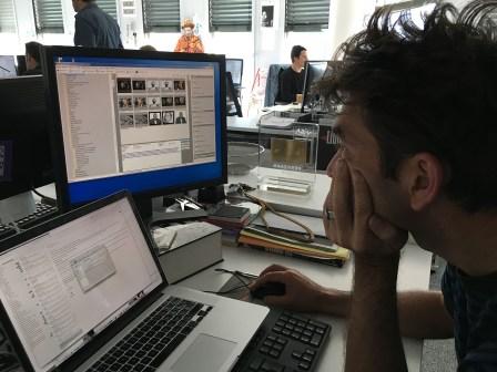 Lionel Charrier à son bureau.
