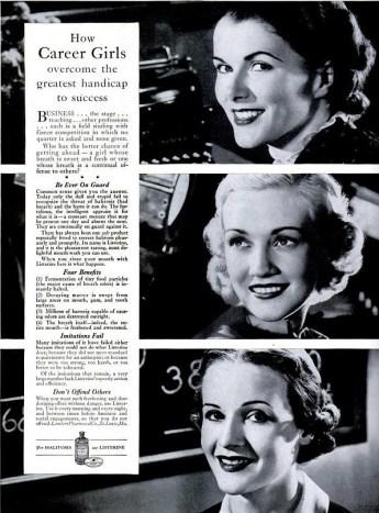 Publicité Listerine, Life, 1937.