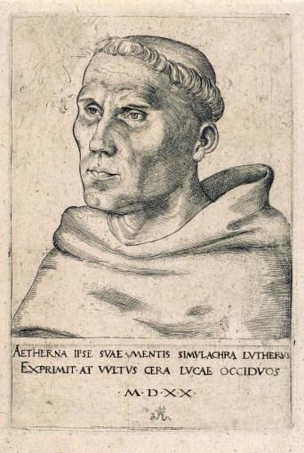 Cranach, Luther, 1520 (2e version).