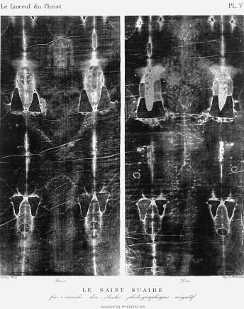 Secondo Pia, Le Linceul du Christ, 1902 (image négative).