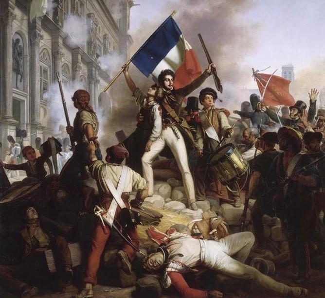 Jean-Victor Schnetz, Combat devant l'Hôtel de ville,1830.