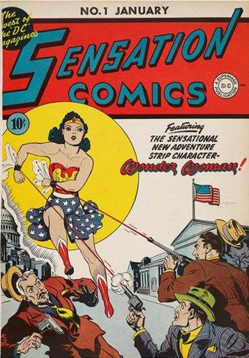 Sensation Comics, 1942.