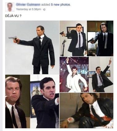 Facebook, association d'images.