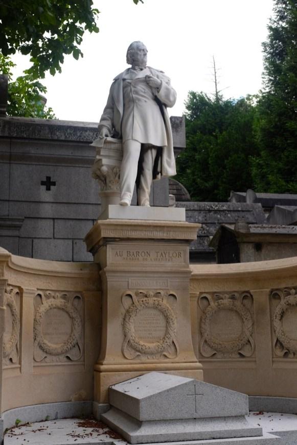 Père-Lachaise, tombeau du baron Taylor.