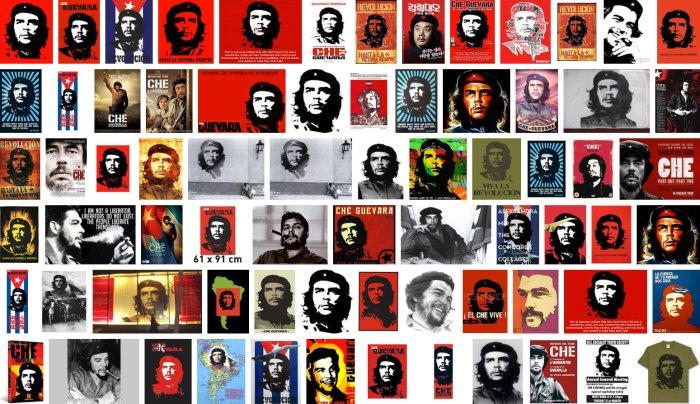 Posters à l'effigie du Che.