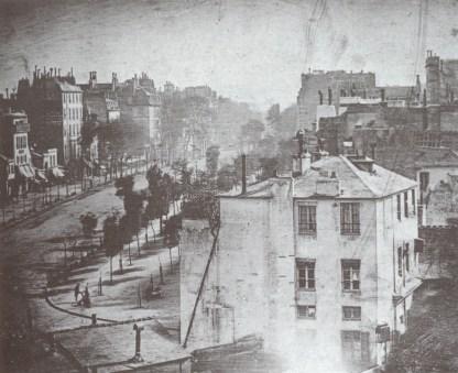 Daguerre, Bd du Temple, 1838.