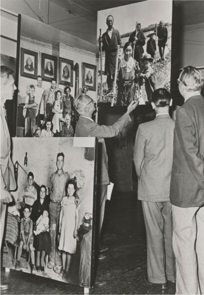 Edward Steichen at The Family of Man, 1955, MoMA Archives, New York.